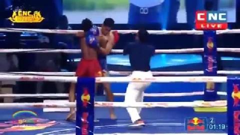 ខ្លានាង វាយម្ចាស់ខ្សែក្រវាត់ថៃសន្លប់ Kham Klaneang vs Phet Petsaen(Thai) CNC Kun Khmer 05012019