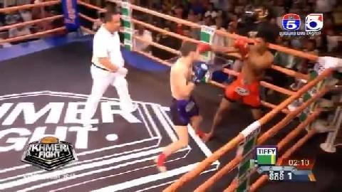 ឡៅ_ ចិត្រា Vs ប៉ូឡូញ Lao Chitra Cambodia Vs Tomasz Lamnamoon Poland Khmer Boxing 31 Dec 2018