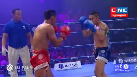 Kun Khmer លី ភាVs ទួនពេ (ថៃ) Ly Phea Vs Tuanpe (Thai) CNC boxing 0322019  Fights Zone