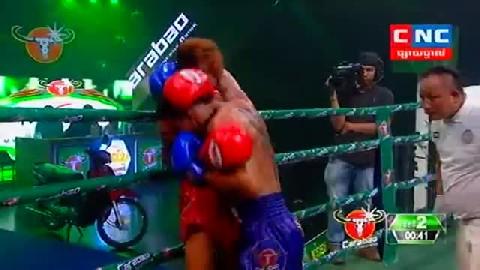 Kun Khmer ធន់ ចាន់តាក់ Vs ឆាតឆៃ Thun Chantak Vs Chhatchhai (Thai) CNC boxing 0222019