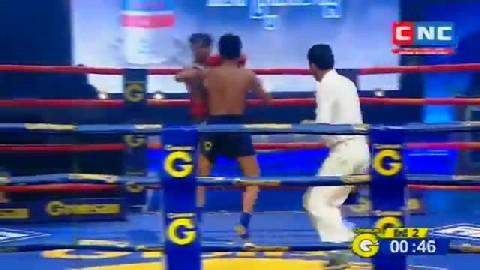 Kun Khmerសៀវ ង៉ុយ Vs ឃុមពីឈីត (ថៃ) Seav Ngoy Vs Khumpichit (Thai) CNC boxing 0122019