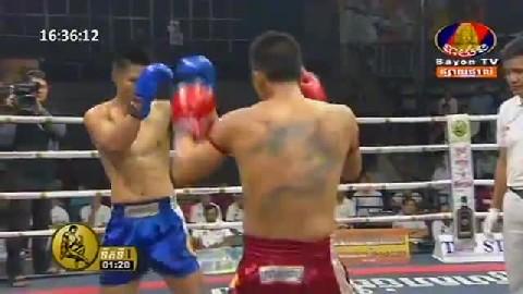 Kun Khmerវង្ស ណយ Vs តាក់សិលា (ថៃ) Vong Noy Vs Taksila (Thai) Bayon boxing 0222019  Fights Zone