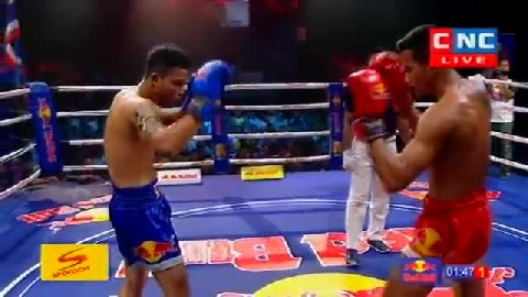 Kun Khmer ឡុង ជិន Vs ឌេនស្យាម Long Chin Vs Densiam (Thai) CNC boxing 0922019  Fights Zone