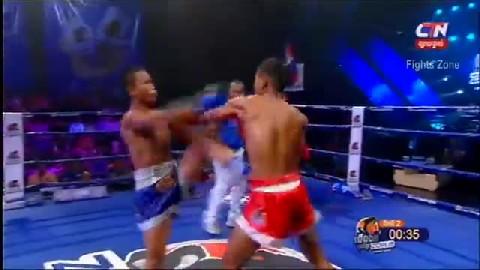 Kun Khmer អេលីត ចំរើន Vs  ភីតដាំ (ថៃ) Elit Chamroeun Vs Phetdam (Thai) CTN boxing 1022019