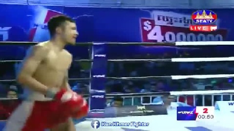Long Chin vs Thanasak(Thai) Seatv Kun Khmer 17022019
