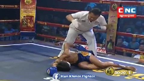 ល្អណាស់ ខ្លានាង ផ្តួលថៃទឹក ១ Kham Klaneang vs Phitdam(Thai) CNC Kun Khmer 17022019