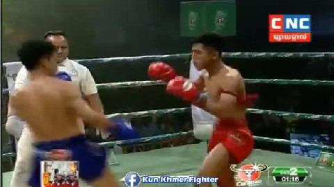 វ៉ាន់ថង ផ្តួលថៃដណ្តើមបានប្រាក់លាន Chhut Sereyvanthorng vs Senpeth(Thai) CNC Kun Khmer 23022019