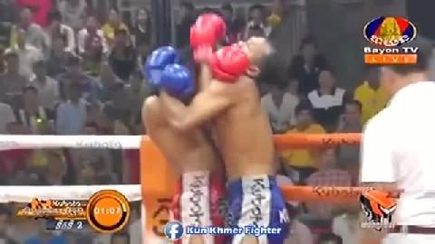 ឡៅ ចន្ទ្រា សន្លប់ប៉ុន្តែ... Lao Chantrea vs Rungrath(Thai) Bayon Kun Khmer 22022019