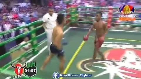 ភូលូ វាយថៃសន្លប់ទៀតហើយ Rith Phulu vs Khumphet(Thai) Bayon Kun Khmer 17022019