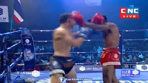 ម្នាក់ម៉ាត់ម្នាក់កែងរាប់ម្តងម្នាក់ Soun Channy vs Prab(thai) CNC Kun Khmer 24022019