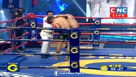 កេងកាត ស្គាល់រសជាតិសន្លប់ហើយ Ny Sophy vs Kengkat(thai) CNC Kun Khmer 01032019
