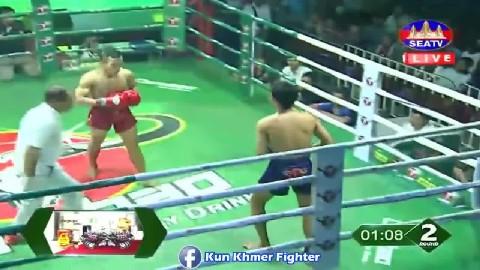 សន្លប់ទាល់តែបានមែនថៃ Leap Rotha vs Yorthvandy(thai) Seatv Kun Khmer 09032019