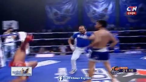 សន្លប់ទៀតហើយ ឃុំភីត Moeun Sokhuch vs Khumphit(thai) CTN Kun Khmer 10032019