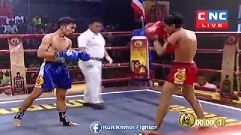 សន្លប់ទៀតហើយថៃ Him Kimreang vs Pantheb(thai) CNC Kun Khmer 10032019_2