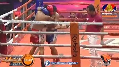 របួសចាស់ Chhoeun Chhaiden vs Bowie(thai) Bayon Kun Khmer 29032019