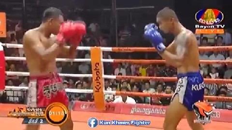 ឃុនក្រុងថេប មកវិញជក់ចិត្ត Long Sophy vs Khun Krongtheb(thai) Bayon Kun Khmer 29032019