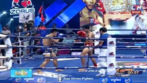 វគ្គផ្តាច់ព្រ័ត្តខ្សែក្រវាត់ Zorus Long Somnang vs Phetsaifa(thai) CTN Kun Khmer 31032019