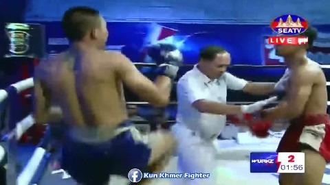 ឃីម ឌីម៉ា ប៉ះ លំឡេង Khim Dima vs Lumleng(thai) Seatv Kun Khmer 31032019