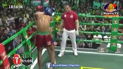 ជែកស្យ៉ាម មកទៀតហើយ Vong Vichhai vs Jacksiam(thai) Bayon Kun Khmer 31032019