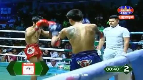 សុខ សាវិន ជាមួយ ភេតង៉ាម - Sok Savin Cambodia Vs Thai Petchgarm